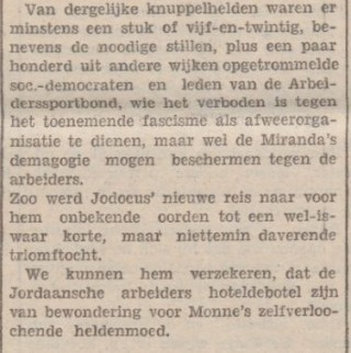 Vermelding van 'hoteldebotel' in De Tribune in 1931. Bron: Delpher