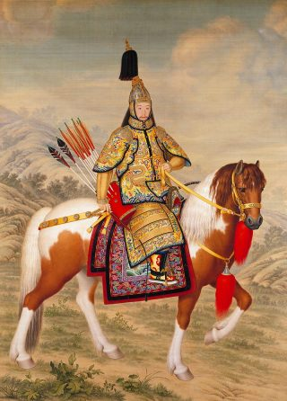 800px-The_Qianlong_Emperor_in_Ceremonial_Armour_on_Horseback