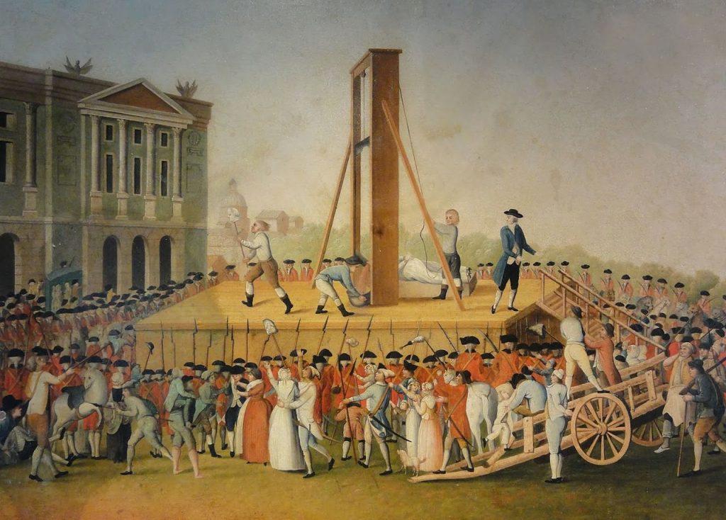 De executie van Marie Antoinette op 16 oktober 1793