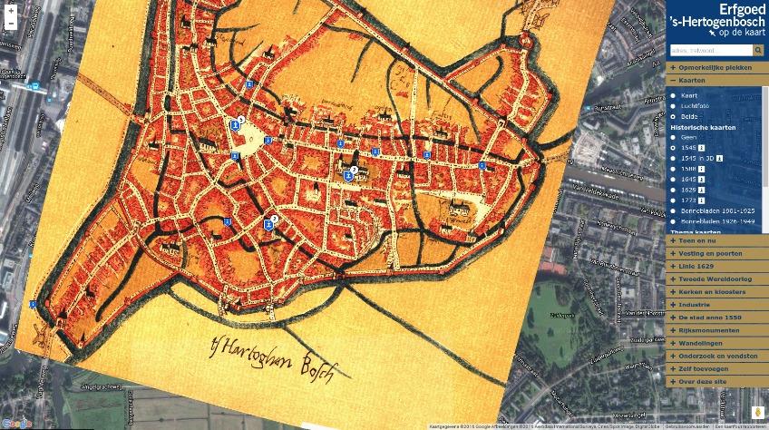 Erfgoed S Hertogenbosch Op De Kaart Gezet Historiek