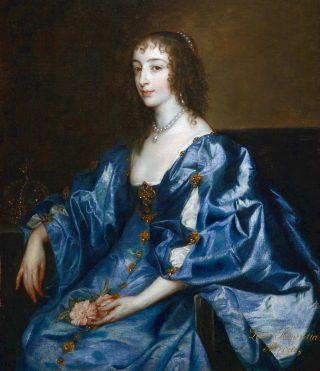 Koningin Henrietta Maria volgens Anthony van Dyck