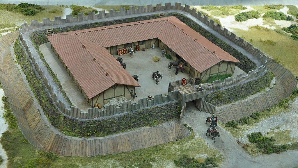 Romeins castellum bij Ockenburgh, Den Haag - reconstructie