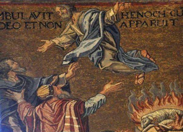 Henochs hemelvaart met het offer van Abel (Cappella Palatina, Palermo)