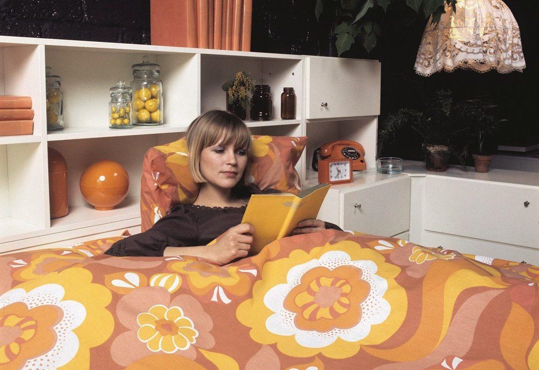 slaapkamers werden in de jaren 70 ook leefkamers zoals deze afbeelding