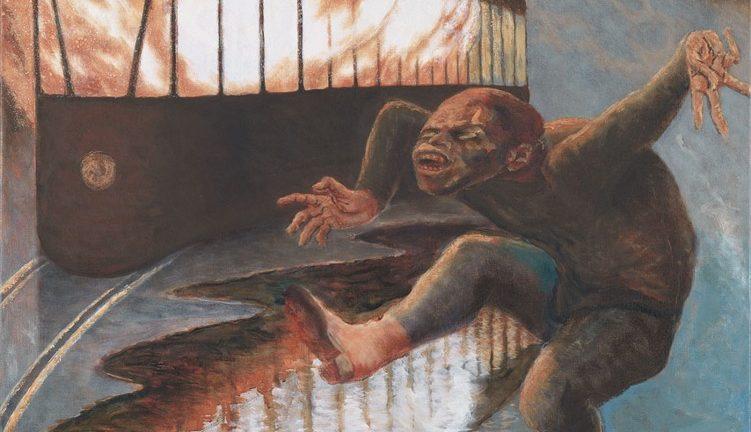 """Herman Gordijn, """"Vragende kinderen"""" (1996). Bron: boek / cc Amsterdam Museum"""