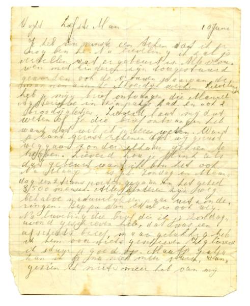 Brief Annie Vrachtdooder © Collectie Nationaal Monument Kamp Vught