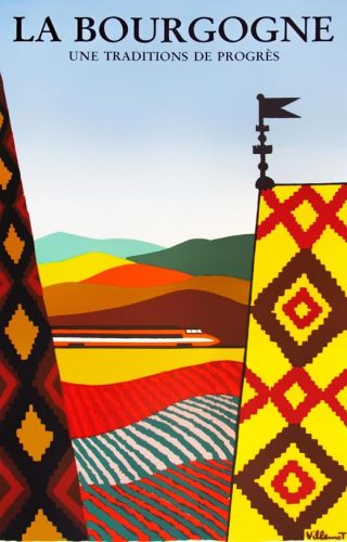 Affiche Bourgogne, traditie en vooruitgang, 1984 | Bernard Villemot (privécollectie)