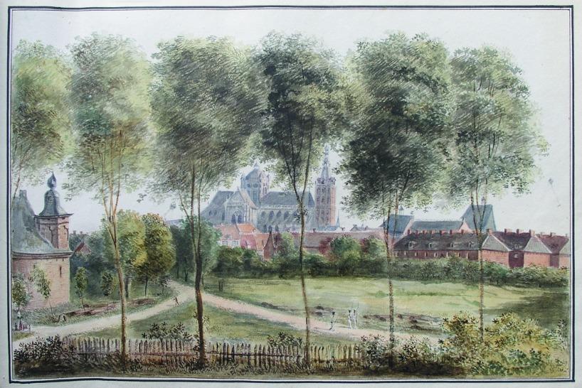 Stadsgezicht Den Bosch. Door Von Bonstetten. Bron: boek.