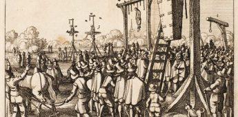 Medestander Johan van Oldenbarnevelt werd postuum opgehangen