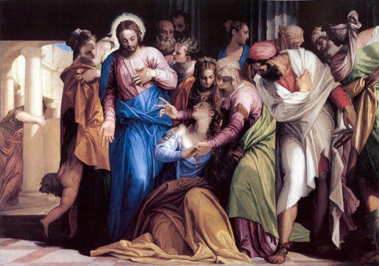 Jezus en Maria Magdalena, een schilderij van Paolo Veronese (National Gallery)