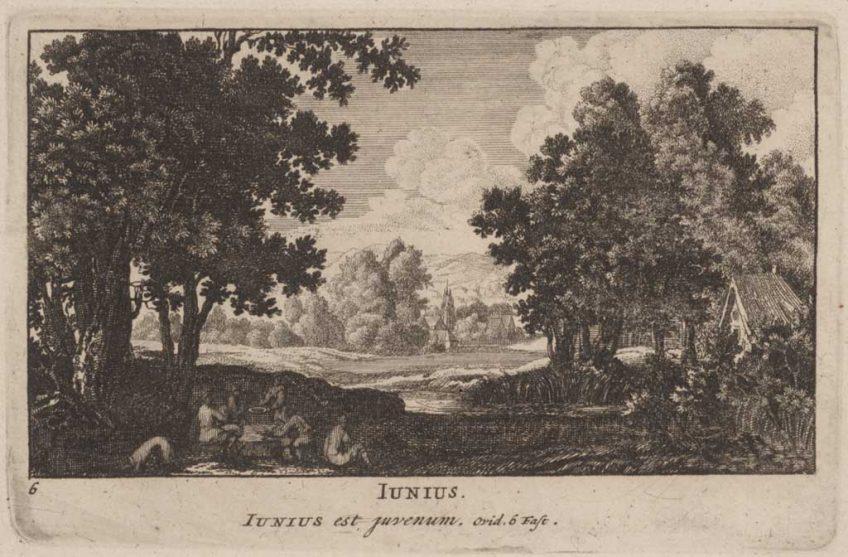 Pieter Schenk (uitgever), Junius, ets, 1701. Collectie Amsterdam Museum, A 56578