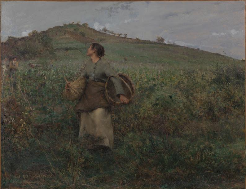 Jules Bastien-Lepage (1848-1884), De druivenoogst (1880), Van Gogh Museum, Amsterdam. Deze aankoop is mogelijk gemaakt dankzij de bijdragen van de deelnemers aan de Bankgiro Loterij.