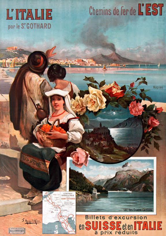 Affiche Italië via de Gotthard, Hugo d'Alesi, 1904
