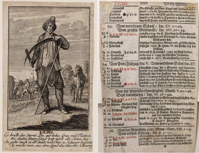 Casper Luyken (naar), Iulius, na 1709, ets. Collectie Amsterdam Museum, A 44740 – recto en verso