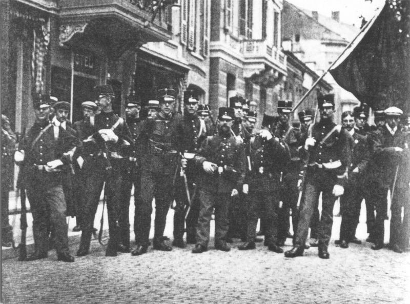 Enkele van de 41 deelnemers van de Vierdaagse van 1910 - cc / Regionaal Archief Nijmegen