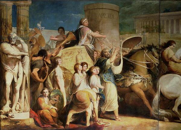 Prijsuitreiking tijdens de Antieke Olympische Spelen