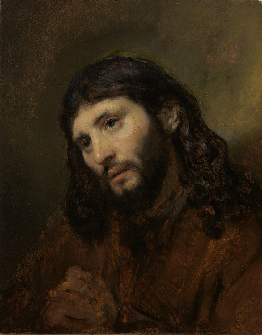 'Hoofd van Christus' door Rembrandt