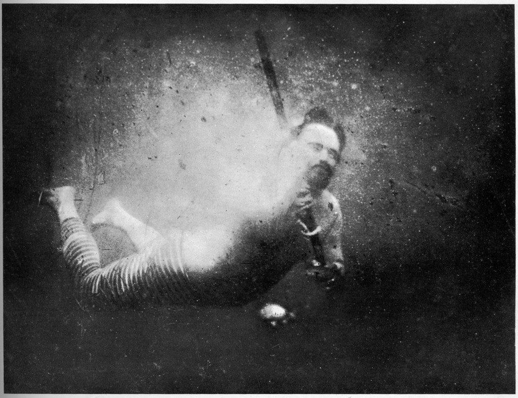 Onderwaterfoto van Louis Boutan (thewhitedot.com)