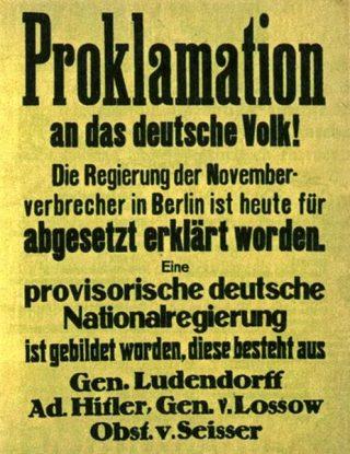Plakkaat met de aankondiging van de staatsgreep, 1923.
