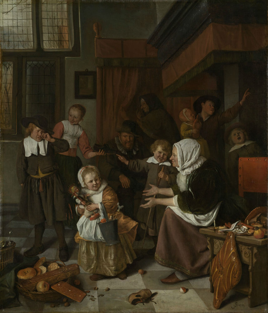 Het Sint-Nicolaasfeest, Jan Havicksz. Steen, 1665 - 1668