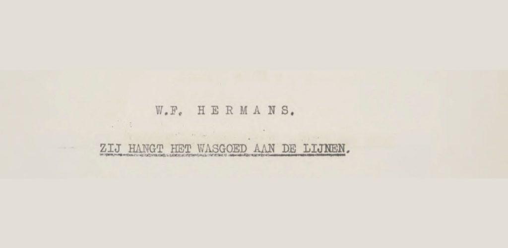 W.F. Hermans in Parade der profeten