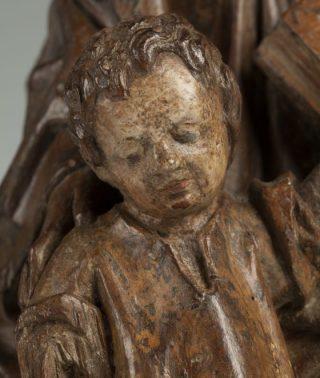 Zittende Maria met staand Christuskind, detail kind (Museum Catharijneconvent)