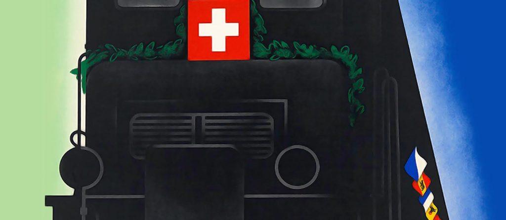Door-en-door Zwitserland: affiches voor de Gotthardbahn