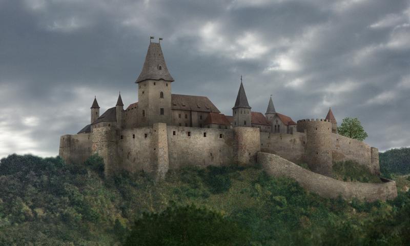 Het kasteel Čachtice in de zestiende eeuw uit. Bron:  www.travelhushhush.com