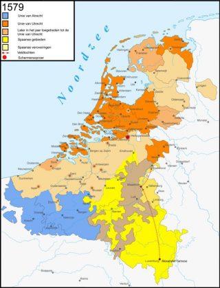 De Unie van Utrecht en de Unie van Atrecht, 1579
