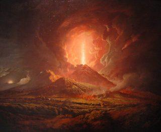De eruptie van 1774 van de Vesuvius, door Joseph Wright