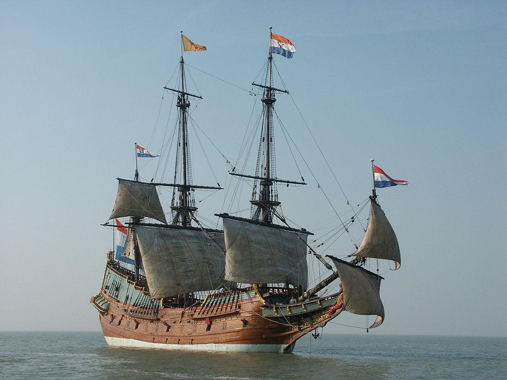 De replica van de Batavia (Publiek Domein - ADZee)