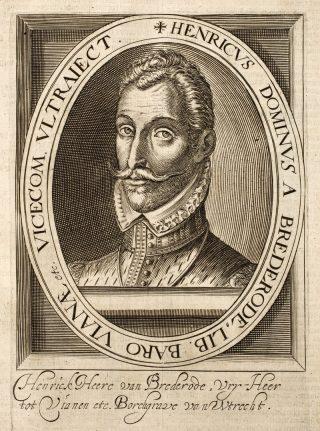 """Hendrik van Brederode, bijgenaamd Grote Geus (""""le Grand Gueux"""")"""