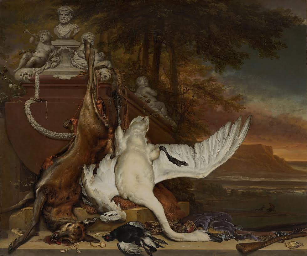 Jan Weenix, 1642 - 1719 Amsterdam, Dode zwaan, ca. 1700-1719, Mauritshuis, Den Haag