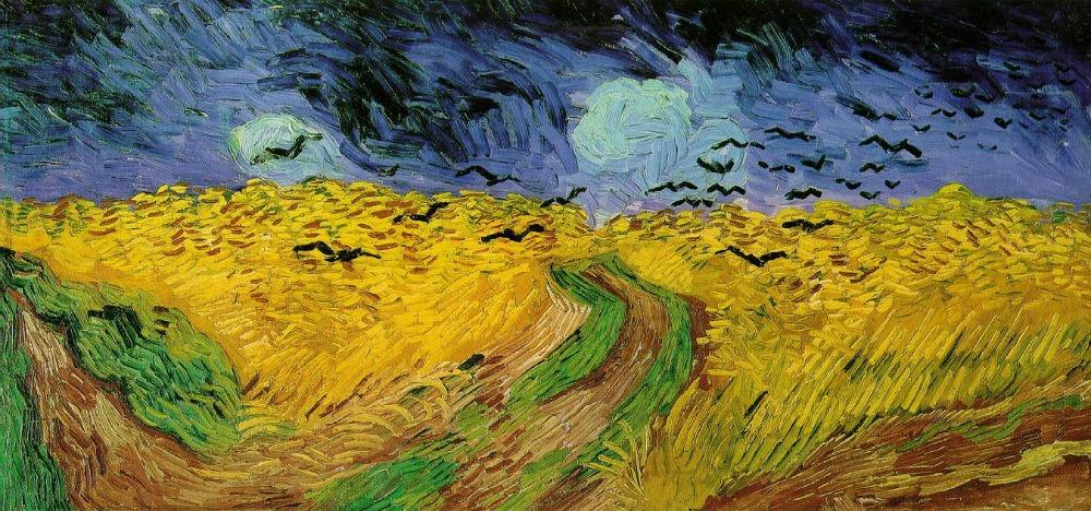 Korenveld met kraaien - Vincent van Gogh, 1890