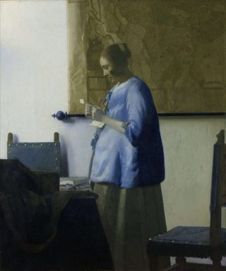 Brieflezende vrouw in het blauw (1662-1665)