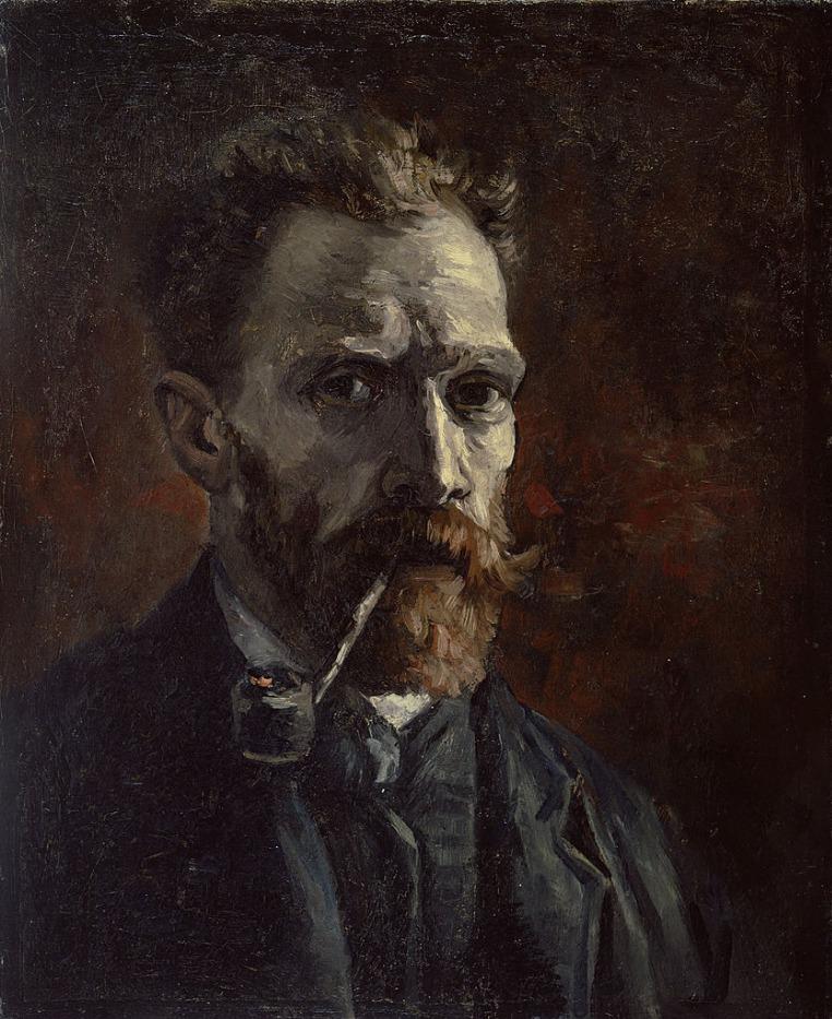 Zelfportret met pijp, 1886