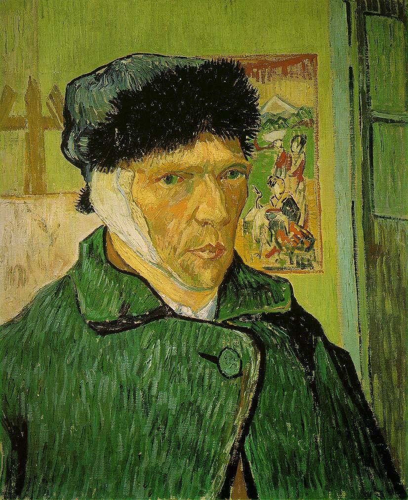 Zelfportret met verbonden oor, januari 1889