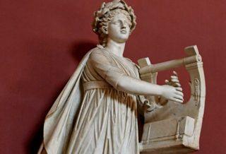 Apollo Kitharoidos; Apollo met kithara.