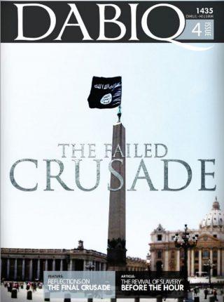 Bewerkte foto van Islamitische Staat op het Sint-Pietersplein