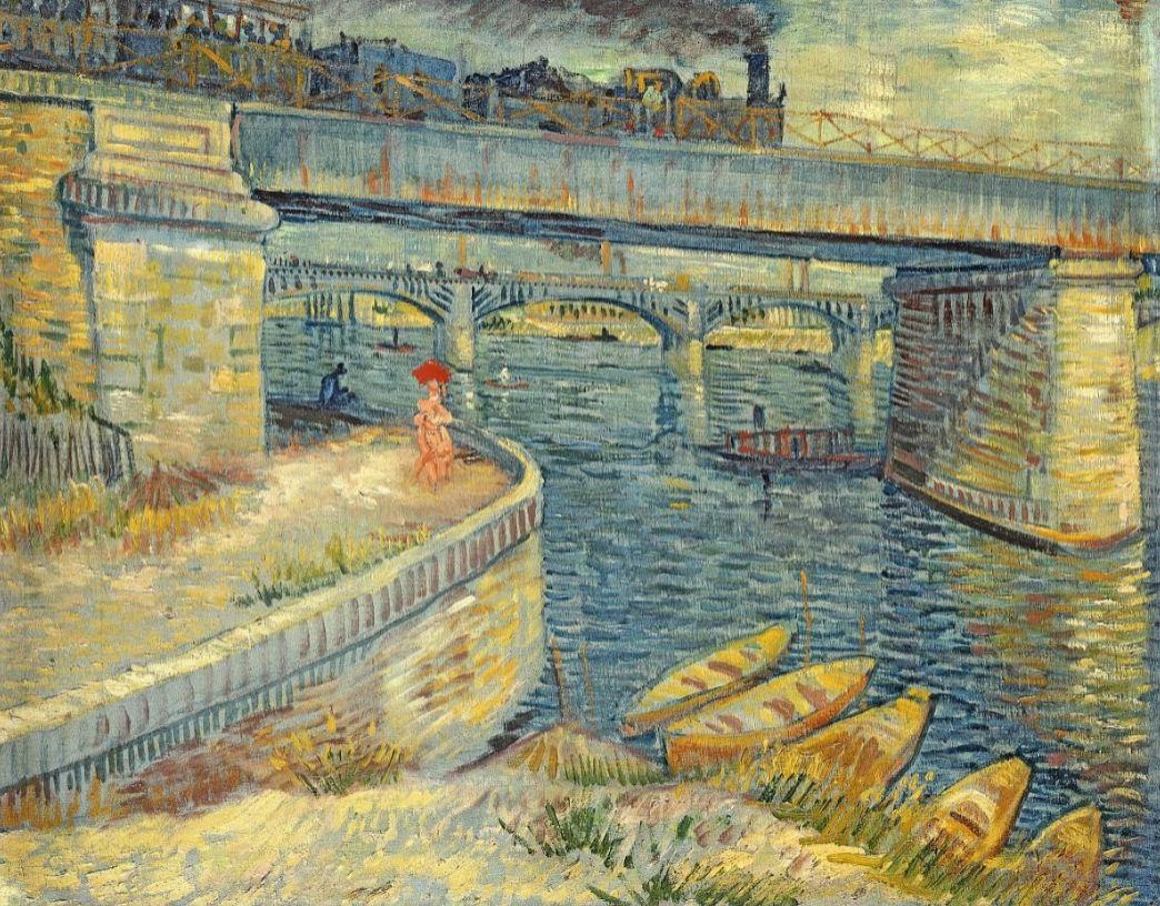 Bruggen over de Seine bij Asnieres