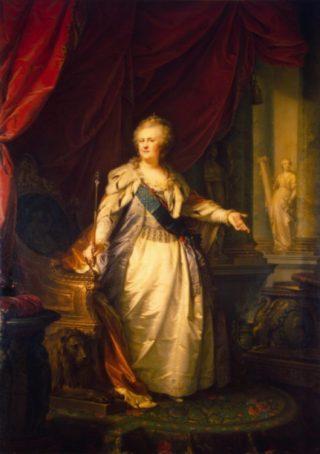 Catharina de Grote in 1793, geschilderd door Johann Baptist von Lampi.