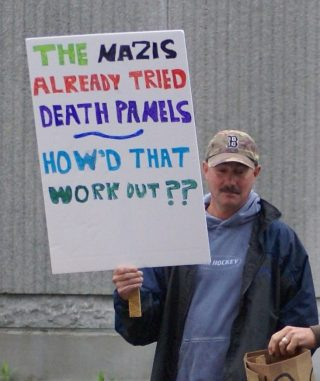 'Death Panel'-demonstrant