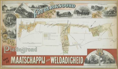 Plattegrond Maatschappij van Weldadigheid in de tweede helft van de 19e eeuw