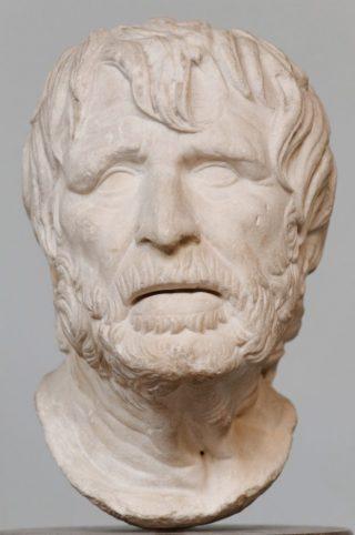 Mogelijk portret van de Griekse dichter Hesiodus (cc)