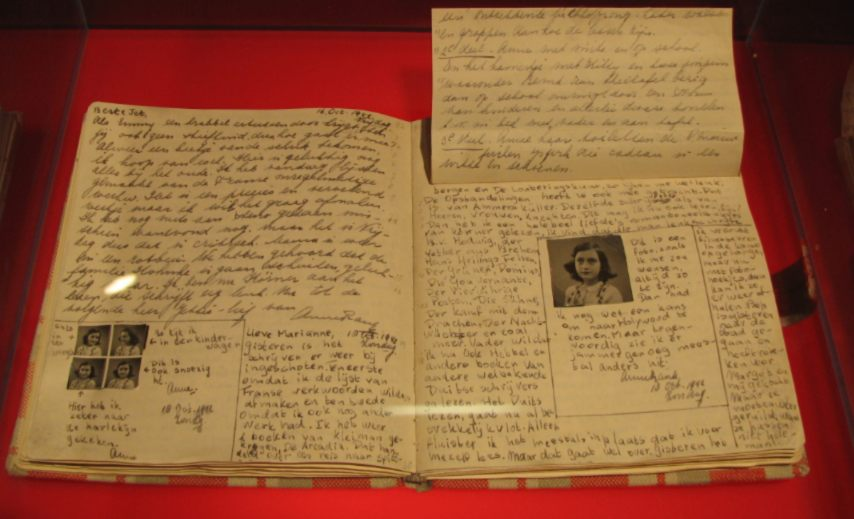 Pagina's uit het dagboek van Anne Frank - cc