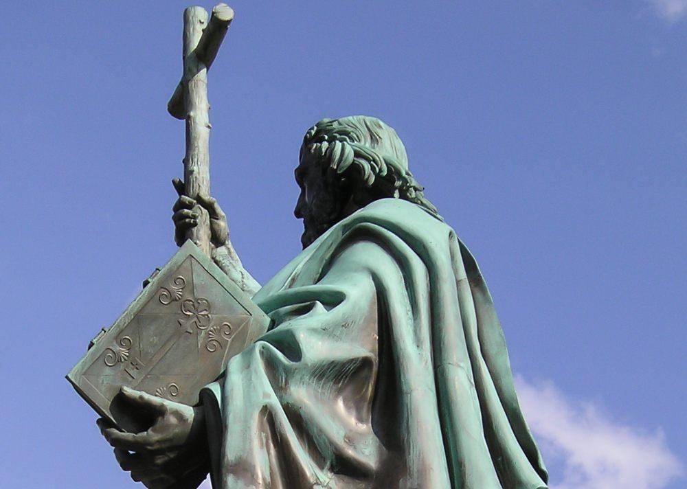 Standbeeld van Bonifatius in Fulda
