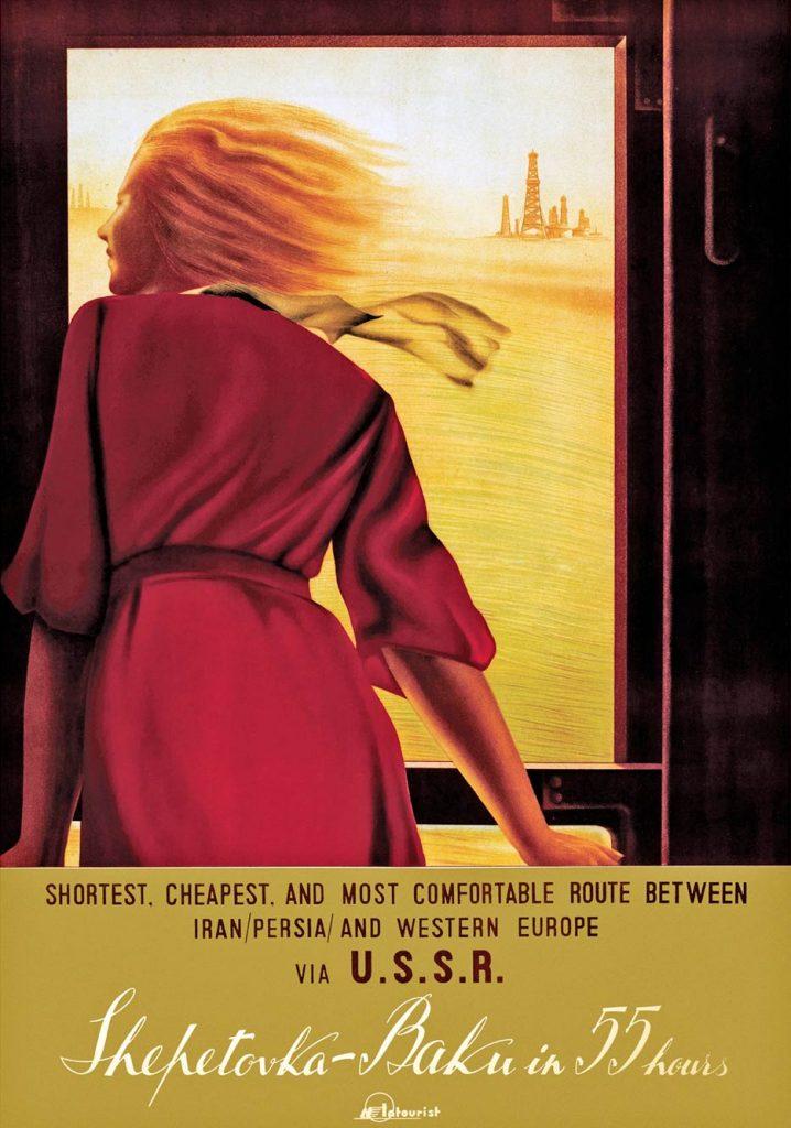 Affiche Shepetivka-Baku, N. Zhukov/A. Chernomordik, 1937