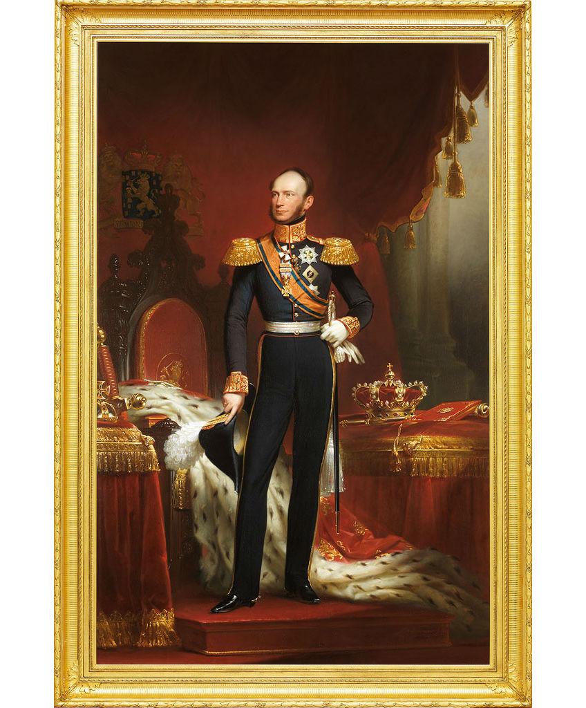 Jan Adam Kruseman, Portret van koning Willem II, 1842. Tweede Kamer der Staten-Generaal Den Haag, in bruikleen van de stad Amsterdam