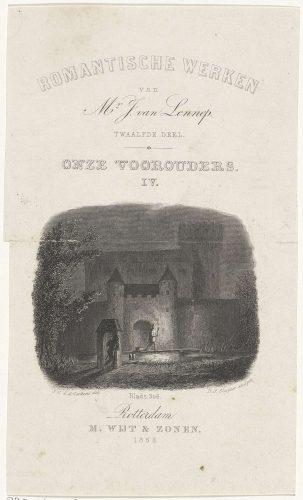 Deze afbeelding sierde de kaft van één van Jacop van Lenneps (1802-1868) werken. Van Lennep is een van de weinige Nederlandse griezelschrijvers uit de negentiende eeuw.