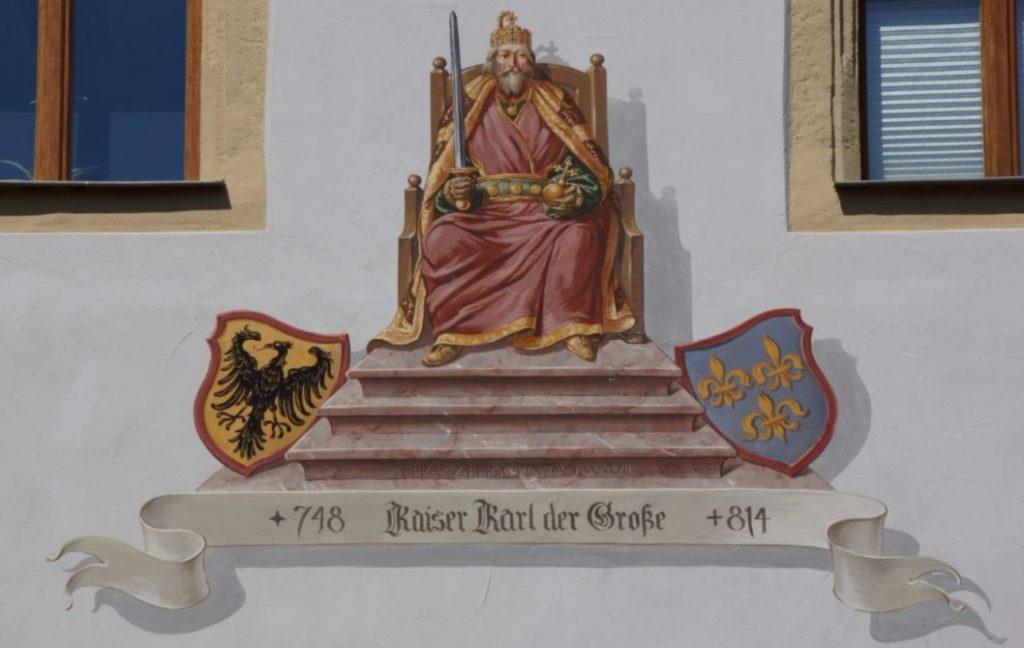 Afbeelding van de oude keizer op een markt in Duitsland - cc